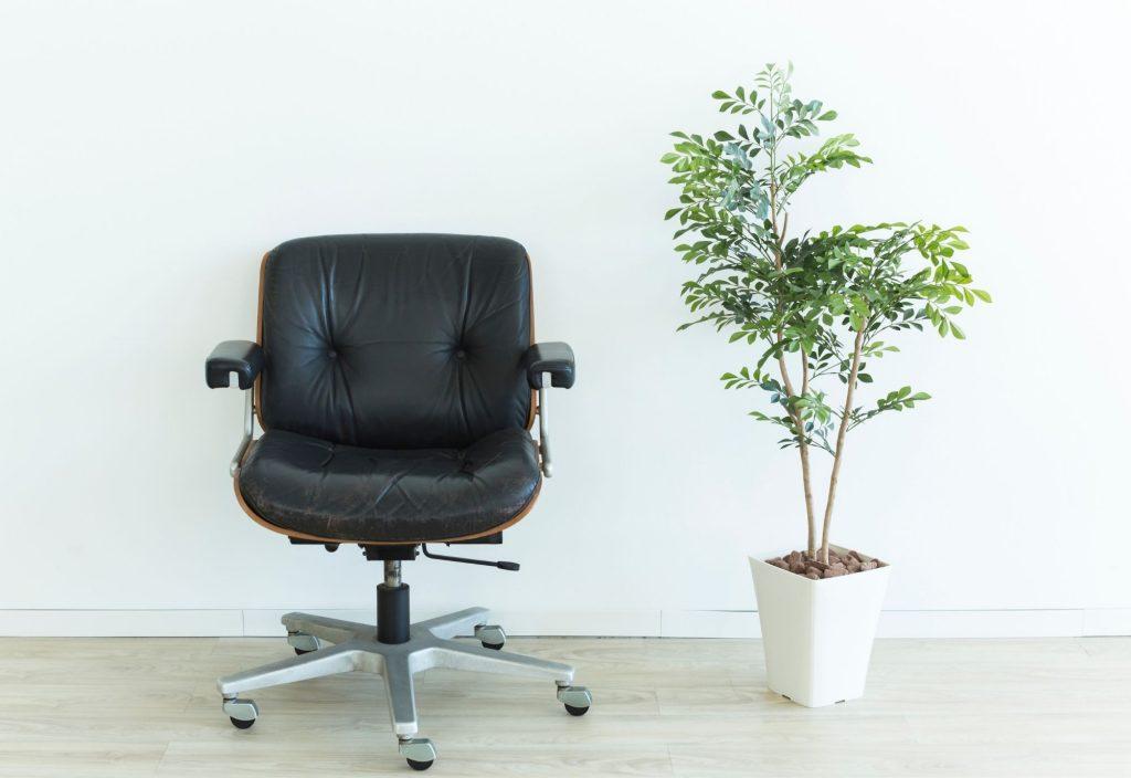 chaise de bureau étirement