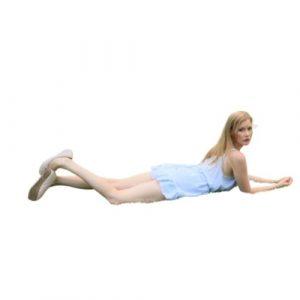 3. Allongez-vous sur vos coudes en position couchée