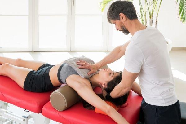 exercice - rouleau de massage diaphragme